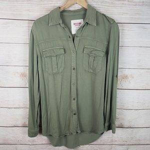 Mossimo Supply Co | Olive Button Down Blouse